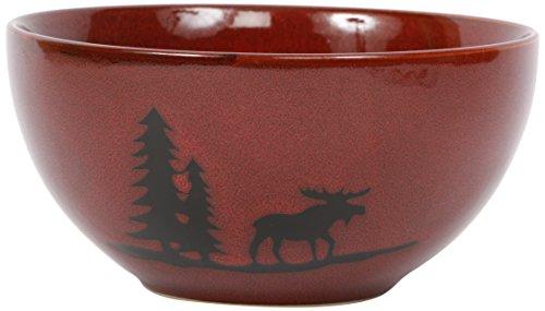 Moose Stoneware - DEI Woodland Moose Stoneware Bowl, 6-Inch