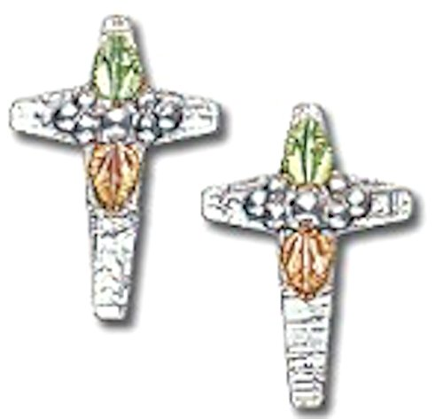 Silver Black Hills Gold Cross Earrings by Black Hills Gold Jewelry