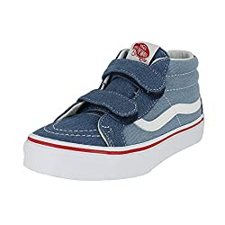 Vans Kids Sk8-mid Reissue V (Denim 2-tone) Bluetrue White Skate Shoe 11 Kids Us