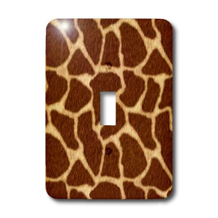Brown Giraffe Single - 3dRose LLC lsp_15371_1 Giraffe Print Brown - Single Toggle Switch