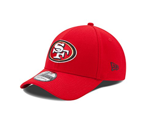 NFL San Francisco 49ers Team Classic 39THIRTY Stretch Fit Cap, Small/Medium, Red