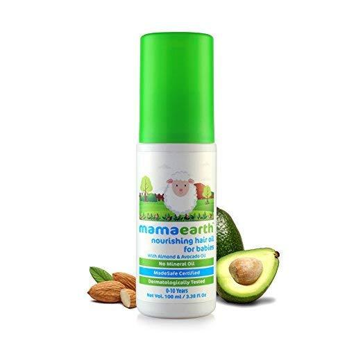 Mamaearth Nourishing Baby Hair Oil with Almond & Avocado, 100ml