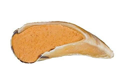 Pack of 25, Cow Hooves Filled with Peanut Butter by REDBARN