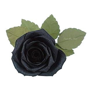 Paper Rose Anniversary Gift, Single Long sterm Paper Rose, Handmade Crepe Paper Flower 36