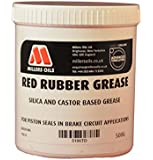 Millers Oils 5196TB Red Rubber grease, 500ml tub