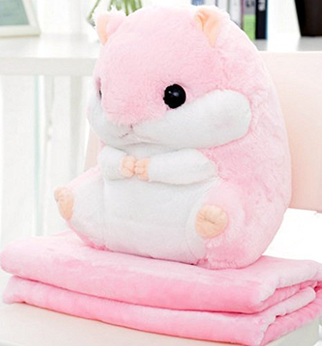 YunNasi Blanket Plush Hamster Pillow