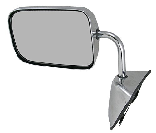 Mirror Drivers Side Chrome Manual - Chrome Folding Manual Mirror LH Left Driver Side for Dodge Pickup Ramcharger