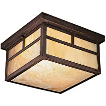 Kichler 9825CV Two Light Outdoor Ceiling Mount