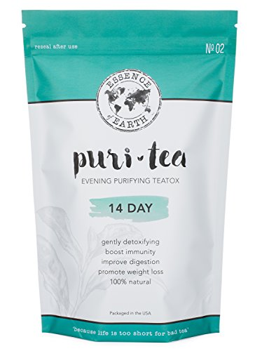 Detox Tea to Remove Toxins, Reduce Bloating, Improve Digestion, Promote Restful Sleep. Detox Cleanse Tea Organic 14 Day Gentle Teatox. Caffeine-Free