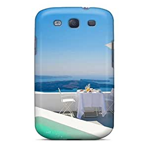 Forever Collectibles View Out Over Santorini Greece Hard Snap-on Galaxy S3 Case