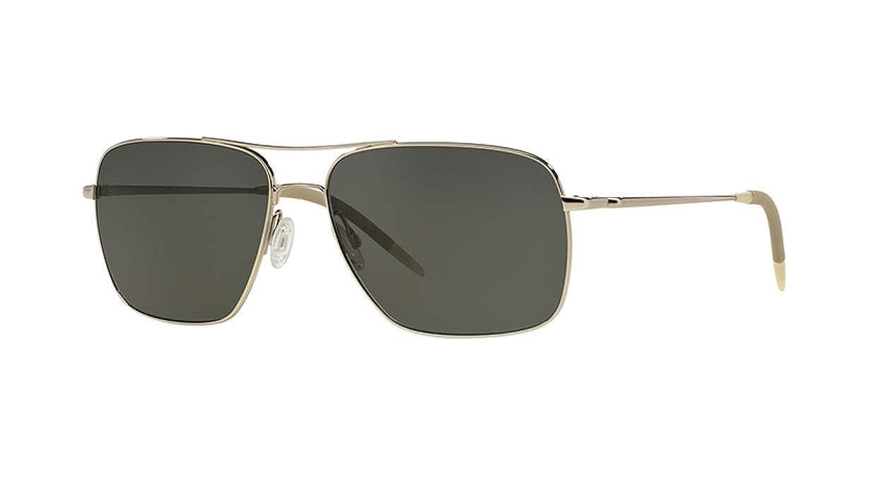 ff05392bb1c Amazon.com  Oliver Peoples Clifton OV1150 Silver w Gray Polar Lenses   Clothing