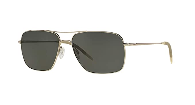 f3fcec79a79 Amazon.com: Oliver Peoples Clifton OV1150 Silver w/Gray Polar Lenses ...