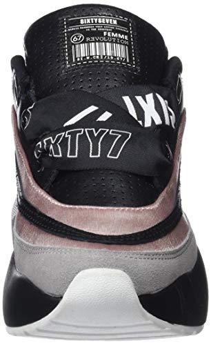 Femme suede 79823 Negro Gris Basses Seven C43373 Rosa Noir Sixty Sneakers salic actled 8aqIFwF
