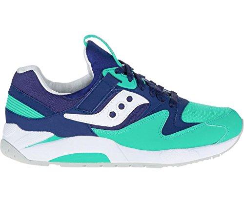 Saucony Originals Men's Grid 9000 Fashion Sneaker, Navy/Green, 12 M US