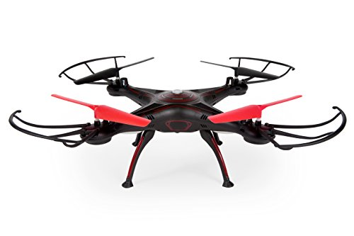 World Tech Toys Elite Rogue Drone 2.4Ghz 4.5 CH RC Quadcopter Vehicle, black/Red, 8.75 x 8.75 x 4.5