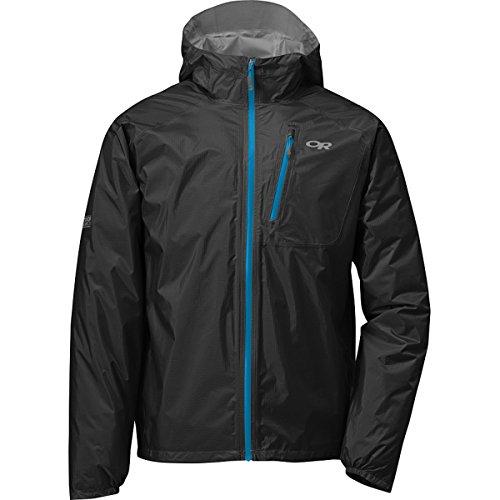 Outdoor Research Men's Helium II Jacket, Black/Hydro, M