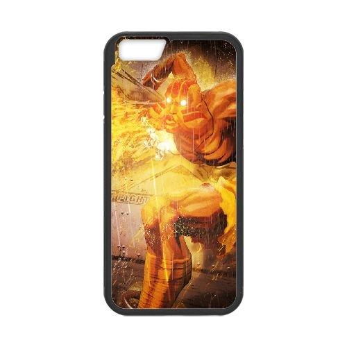 Street Fighter X Tekken, Dhalsim, Magic, Fire coque iPhone 6 Plus 5.5 Inch cellulaire cas coque de téléphone cas téléphone cellulaire noir couvercle EEECBCAAN04446