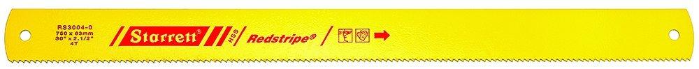 Starrett RS3004–0Handytasche Redstripe massiv High Speed Steel Power Bügelsäge Blade, 0,3cm Dick, 4TPI, 76,2cm Länge x 2–1/20,3cm Breite RS3004-0