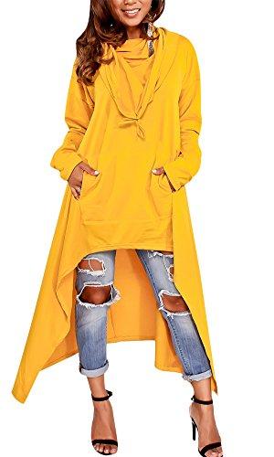 Womens Hooded Dress Handkerchief Tunic Tops Plus size Hoodies Sweatshirts by Knight Horse