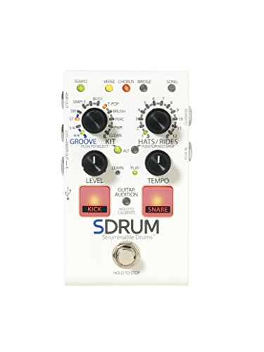 DigiTech Automatic Drum Machine Pedal Multi Effect Processor (SDRUM-U) (Best Drum Pedal For Guitar)