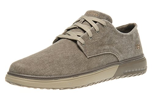Skechers Mens Folten Brisor Canvas Cushioned Casual Oxford Shoes pardo
