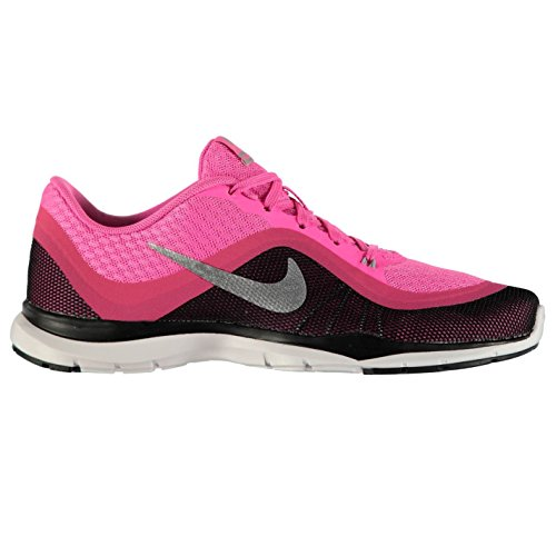 NIKE Flex Trainer 6Formation Chaussures pour Femme Rose/Argent/Noir Baskets Sneakers
