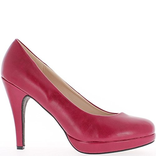 Piattaforma e scarpe grande vita femmina nero tacco 12cm