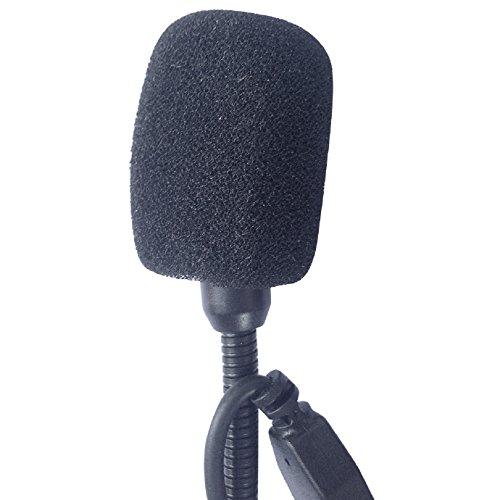 de T-COM de COLO la motocicleta de Bluetooth Interphone del intercomunicador Micr/ófono Altavoz duro cable de los auriculares para el casco de FreedConn T-MAX FDCVB