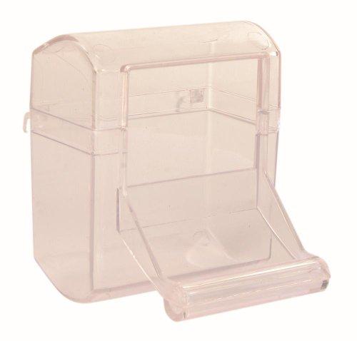 Trixie Plastic Bird Feeder Food Bowl con percha de aterrizaje para periquitos