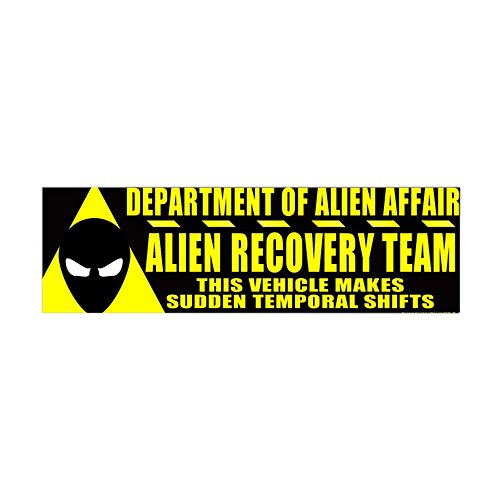 CafePress Department Of Alien Affairs 36X11 Wall Peel - 36x11 Wall Decal, Vinyl Wall Peel, Reusable Wall Cling by CafePress