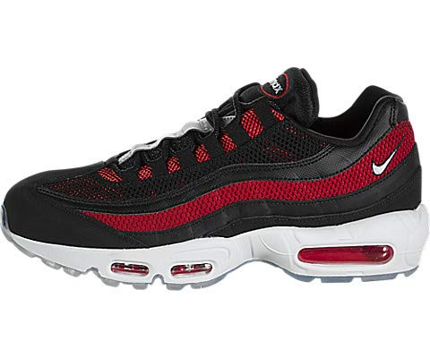 Nike Men's Air Max 95 Black/White/University Red Mesh Casual Shoes 8 M US (Red Grey And Black Air Max 95)