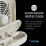 "O2COOL 5"" Portable Fan Battery Powered, 1 Unit, Grey"