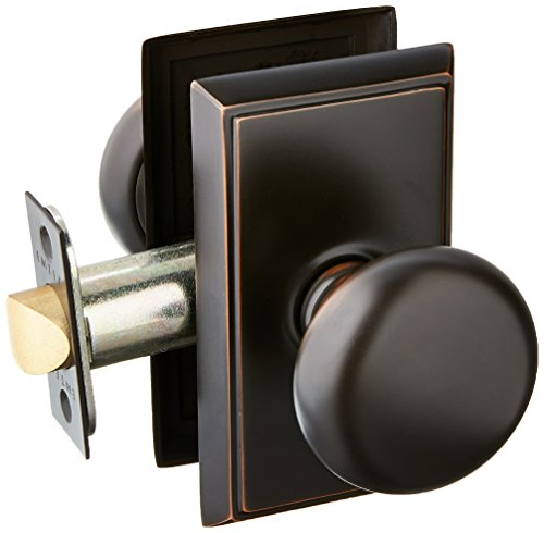 (Providence Door Set With Round Brass Knobs Passage In Oil Rubbed Bronze.)