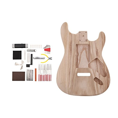 MagiDeal Exquisite Wooden Unfinished Guitar Body with Guitar Repair Tools DIY for Strat ST Electric Guitar Parts by non-brand (Image #9)