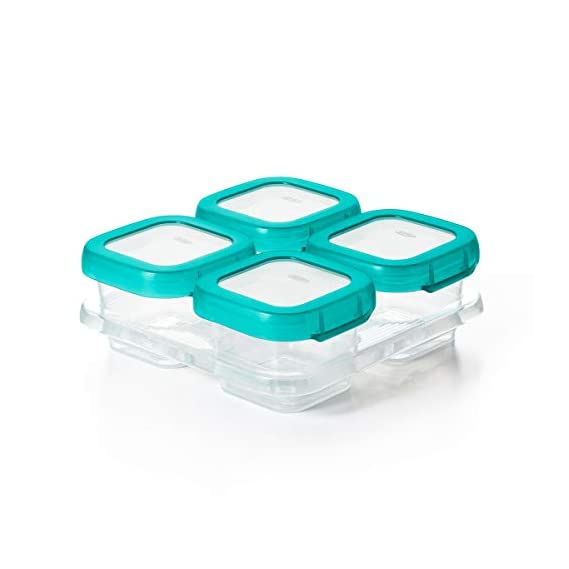 Oxo Tot Baby Blocks Food Storage Containers, Teal, 120ml