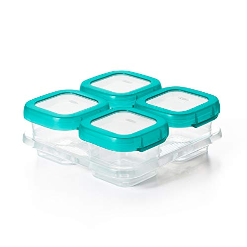 OXO Tot Baby Blocks Freezer Storage Containers (4 Oz) (Baby Food Storage 4 Oz)