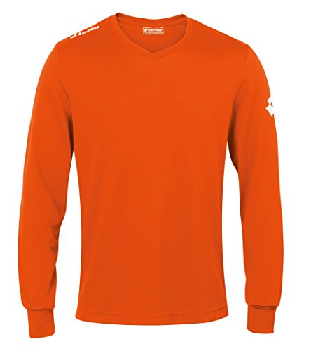 Lotto Mens Lt035 Jersey Long Sleeve Team Evo Fluo Fanta L