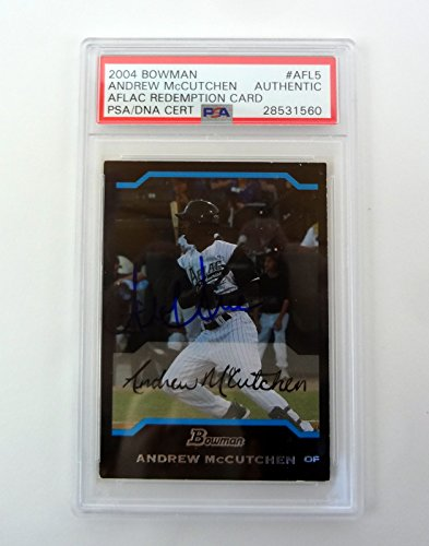 Andrew McCutchen 2004 Bowman Aflac Signed Autograph Auto Rookie Card PSA/DNA COA by PSA