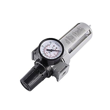 """logicstring Filtro Regulador de presión 1/4 """"BSP aire Gauge Agua Trampa para"""