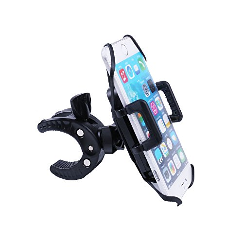 Bicycle phone holder universal mount for bike motorcycle Noanko Cradle Clamp for iOS Android Smartphone GPS and other Devices with One-button Released 360 Degrees Rotatable Rubber Strap