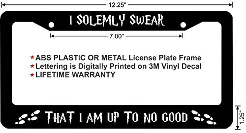 Harry Potter I Solemnly Swear That I Am Up to No Good License Plate Frame (Plastic Frame, Qty 1) ()