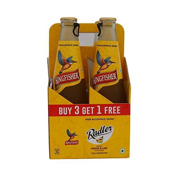 Kingfisher Radler Non Alcoholic Malt Drink - Ginger & Lime, 1250ml (Buy 3 get 1)