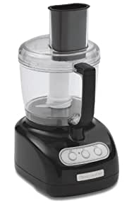 KitchenAid KFP715OB 7-Cup Food Processor, Onyx Black