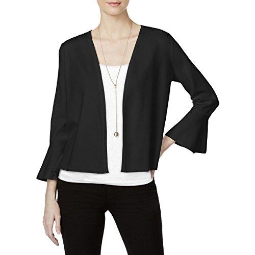 Alfani Womens Petites Open Front Knit Cardigan Sweater Black PP