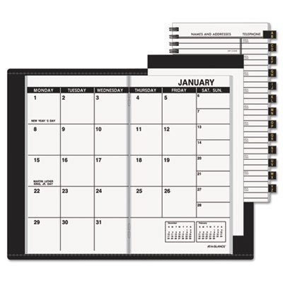 At-A-Glance 70-064-05 13-Month Planner for 2009, Refillable, Unruled, 1 Month/Spread, 3-1/2 x 6-1/8, Black by At-A-Glance