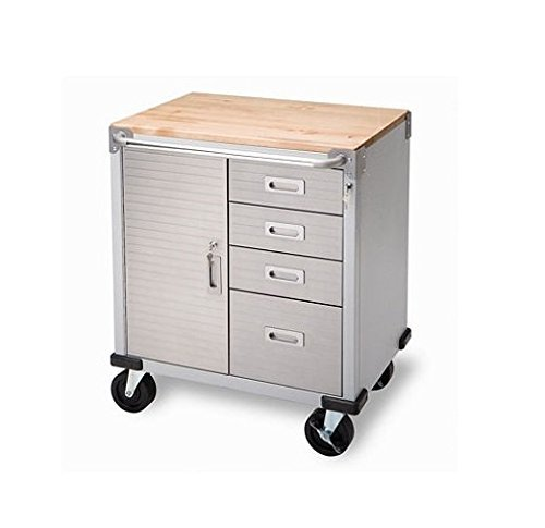 Seville Classics UltraHD Rolling Storage Cabinet with Drawers (UHD20205B) ()
