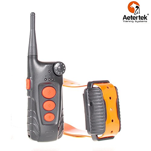 Aetertek At-918c 100% Waterproof Rechargeable Dog Training Shock Collar 600 Yard, Auto Anti Bark Function (one dog collar)