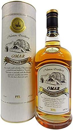 Nantou Destilería Omar Bourbon Cask Whisky de Malta Individual, 700 ml