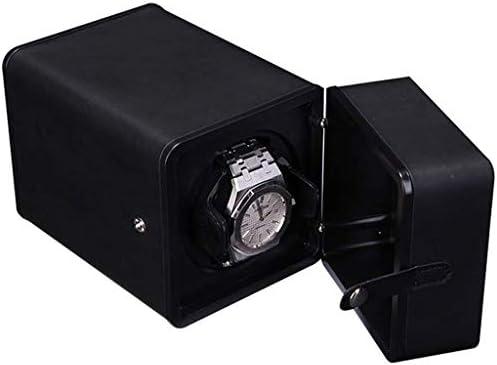 ワインディングマシーン ウォッチワインダーボックス自動機械式時計ボックスオートマチックウォッチボックス自動ボックスウォッチワインダーワインディング 超静音設計 (Color : Black)