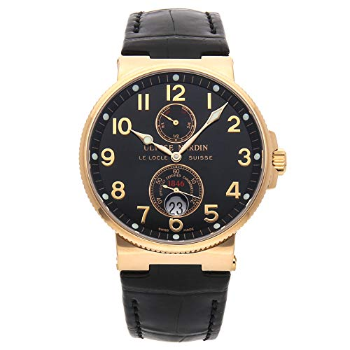 Ulysse Nardin Marine Mechanical (Automatic) Black Dial Mens Watch 266-66/62 (Certified Pre-Owned) (Ulysse Nardin Maxi)